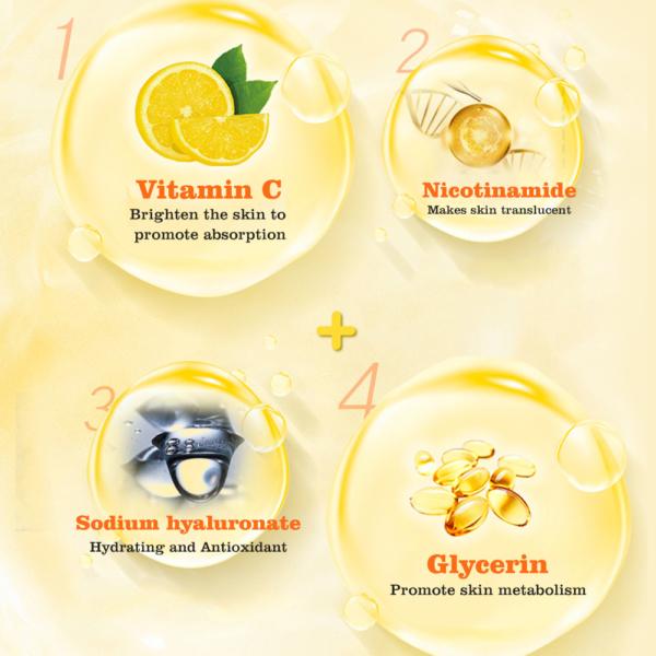 Disaar Hyaluron gezichtsmasker met Vitamine C_ingredienten