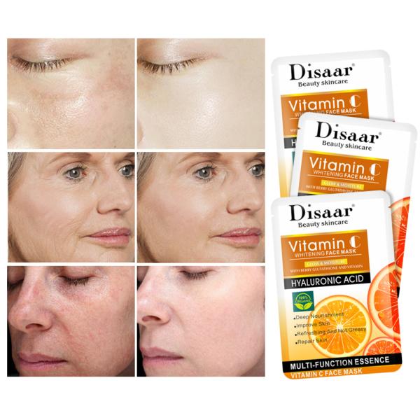 Disaar Hyaluron gezichtsmasker met Vitamine C_resultaten