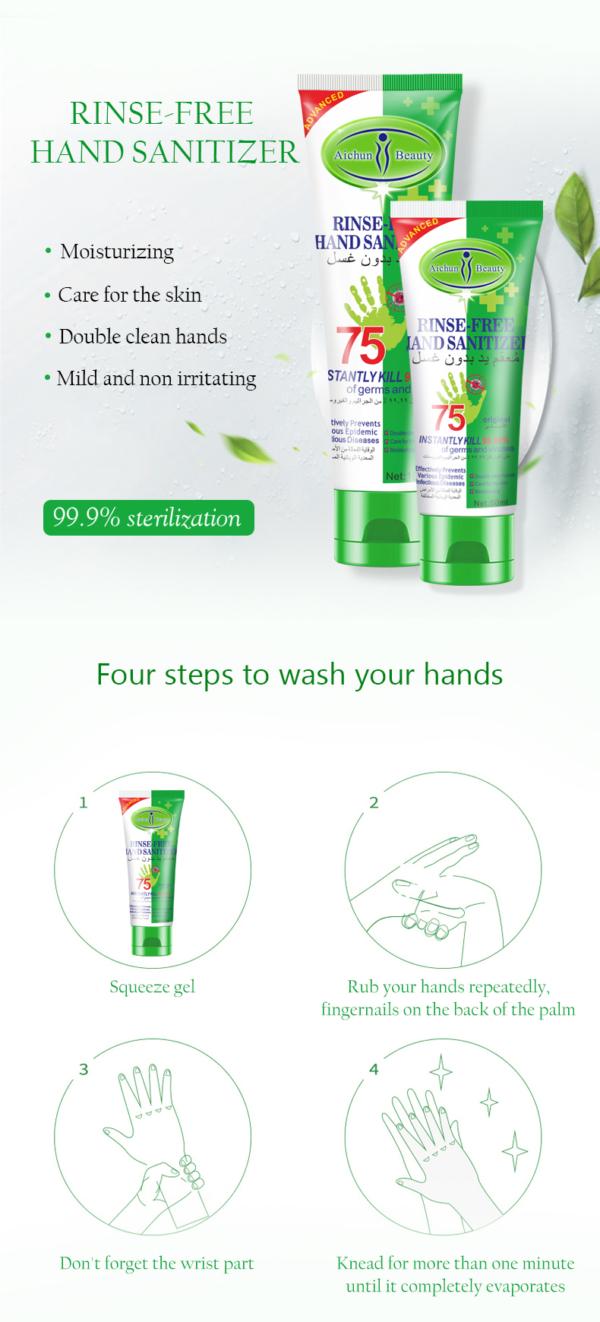 desinfectie handgel biedt bescherming tegen bacterien en virussen_instructie